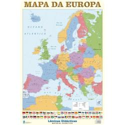 Lâminas Educativas Europe Map