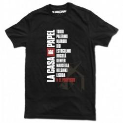 Camiseta La Casa De Papel Nombres XL