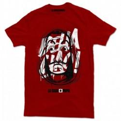 Camiseta La Casa De Papel Máscara Roja XL