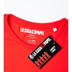 Camiseta La Casa De Papel Máscara Roja S