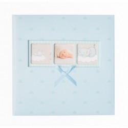 Album Foto 200 Bolsillos 10X15Cm Memo Baby Polka Blue