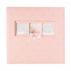 Album Foto 200 Bolsillos 10X15Cm Memo Baby Polka Pink