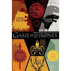 Poster Juego de Tronos Emblemas