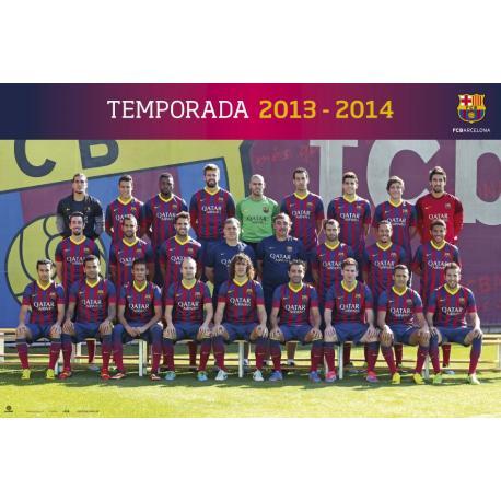 Poster F.C. Barcelona Plantilla