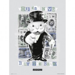 Lámina 30X40 Cm Monopoly You Can Never Beat The Bank