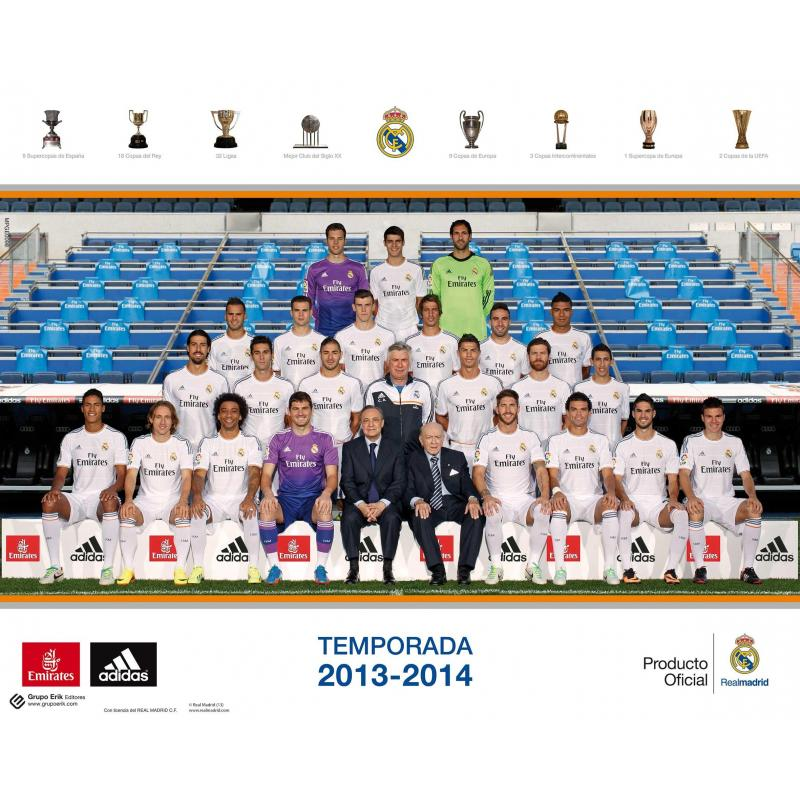 Las fotos para comparar estatura engañan mucho Mini-poster-real-madrid-2013-14