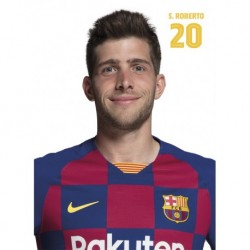 Postal Fc Barcelona 2019/2020 Sergi Roberto Busto
