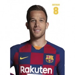 Postal Fc Barcelona 2019/2020 Arthur Busto