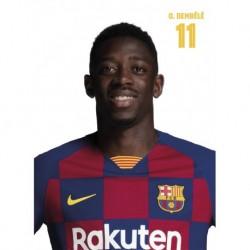 Postal Fc Barcelona 2019/2020 Dembele Busto