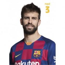 Postal A4 Fc Barcelona 2019/2020 Pique Busto