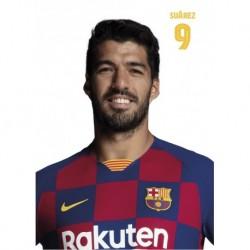 Postal A4 Fc Barcelona 2019/2020 Luis Suarez Busto