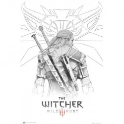 Poster The Witcher Geralt Sketch