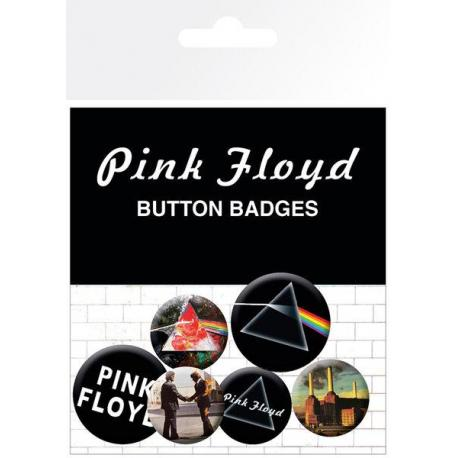 Pack de chapas Pink Floyd Album and Logos