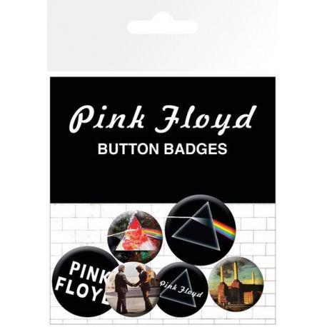 Pack de chapas Pink Floyd Album and Logos
