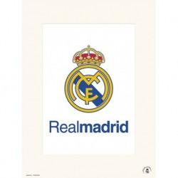 Lamina 30X40Cm Real Madrid - Escudo Real Madrid