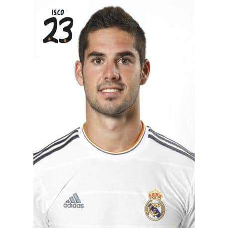 Postal A4 Real Madrid Isco