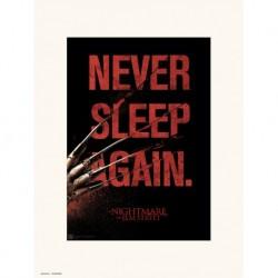 Lamina 30X40 Cm Pesadilla En Elm Street Never Sleep Again
