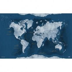 Vade Escolar Mapa Del Mundo Acuarela