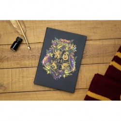 Cuaderno Hogwarts Floral
