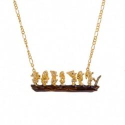 Colgante Disney Blancanieves 7 Enanos Oro