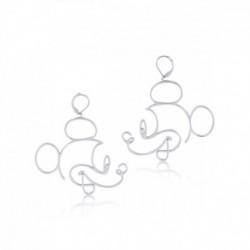 Pendientes Disney 90 Aniversario Mickey Mouse Oro Blanco
