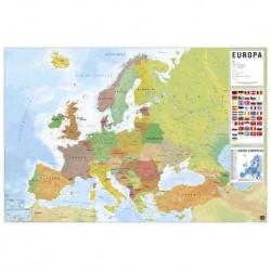 Poster Mapa Europa Fisico Politico Portugues