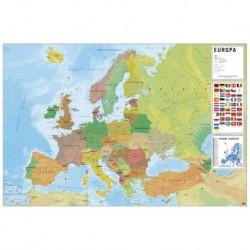 Poster Mapa Europa Fisico Politico Italiano