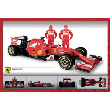 Poster Ferrari F1-Alonso And Raikkonen