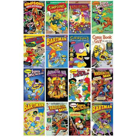 Poster The Simpsons Comic Covers