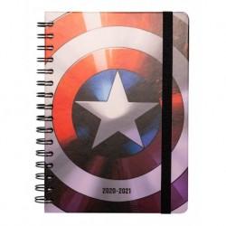 Agenda Escolar 2020/2021 A5 Semanal Marvel Escudo