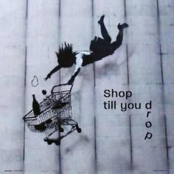 Print 30X30 Cm Brandalised Shop Till You Drop