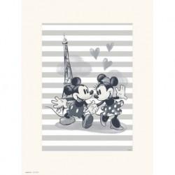 Print 30X40 Cm Disney Mickey & Minnie Paris