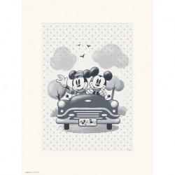 Print 30X40 Cm Disney Mickey & Minnie Travel