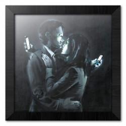 Print Enmarcado 30X30 Cm Brandalised Mobile Phone Lovers Close Up