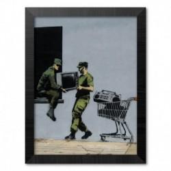 Print Enmarcado 30X40 Cm Brandalised Looters Masters