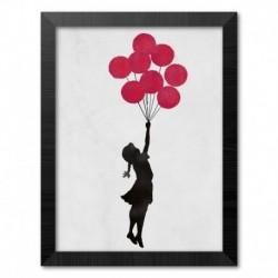 Print Enmarcado 30X40 Cm Brandalised Girl Floating Original