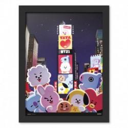 Print Enmarcado 30X40 Cm Bt21 Time Square