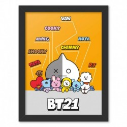 Print Enmarcado 30X40 Cm Bt21 Personajes