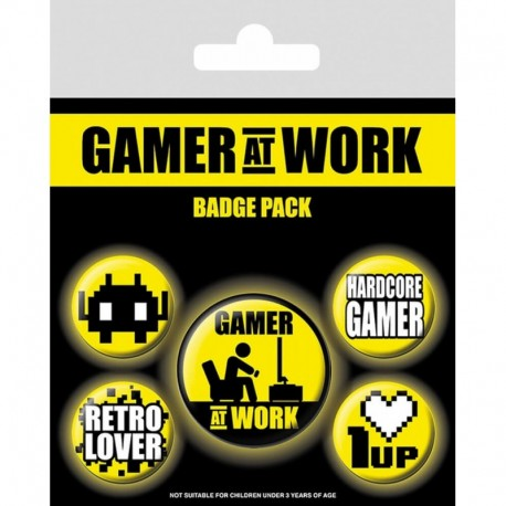 Pack Chapas Gamer At Work