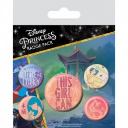 Pack Chapas Disney Mulan This Girl Can