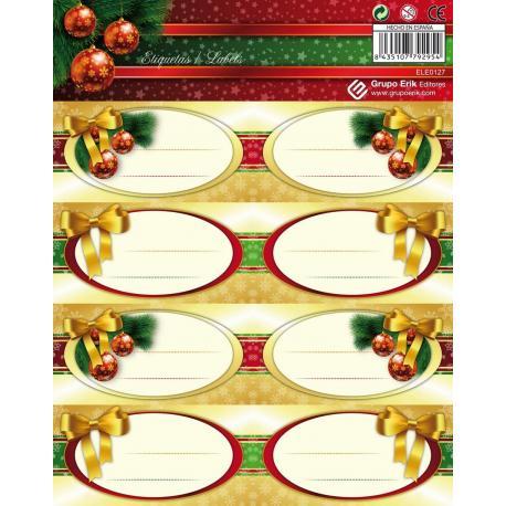 Etiquetas Navidad Oro
