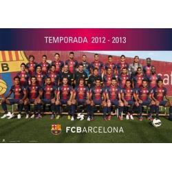 Poster F.C. Barcelona Plantilla 2012-13
