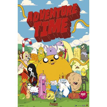 Poster Hora de aventura Personajes