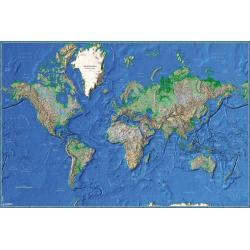 Poster Mapa del Mundo Fisico