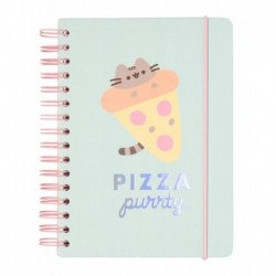 CUADERNO TAPA FORRADA A5 BULLET PUSHEEN FOODIE COLLECTION