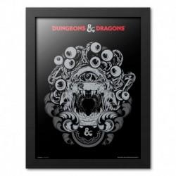 PRINT ENMARCADO 30X40 CM DUNGEONS & DRAGONS BEHOLDER