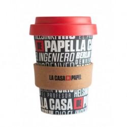 TAZA DE VIAJE BAMBÚ LA CASA DE PAPEL