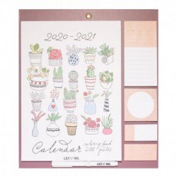 Magnet Planner 2020/2021 Lily & Val Coloring Book