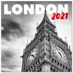 Calendario 2021 30X30 London B/W