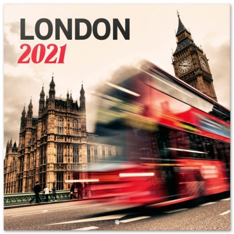 Calendario 2021 30X30 London Color